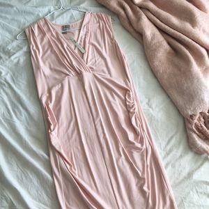 ASOS maternity blush dress